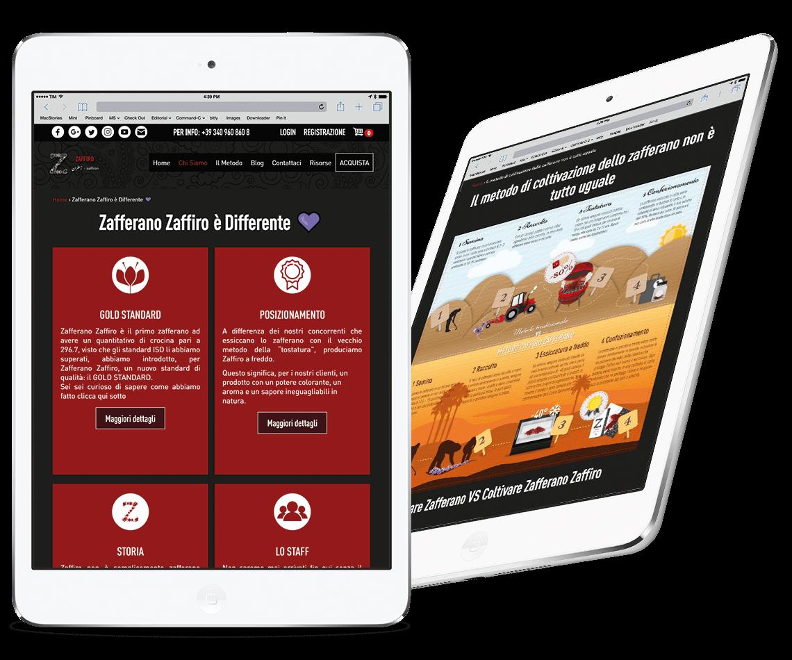Zafferano Zaffiro anteprima iPad