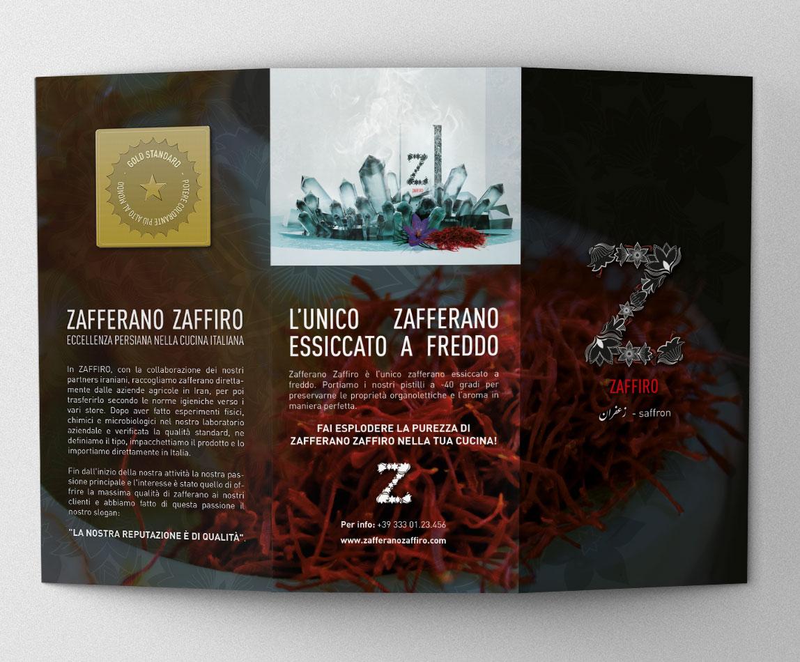 Flyer Zafferano Zaffiro fronte