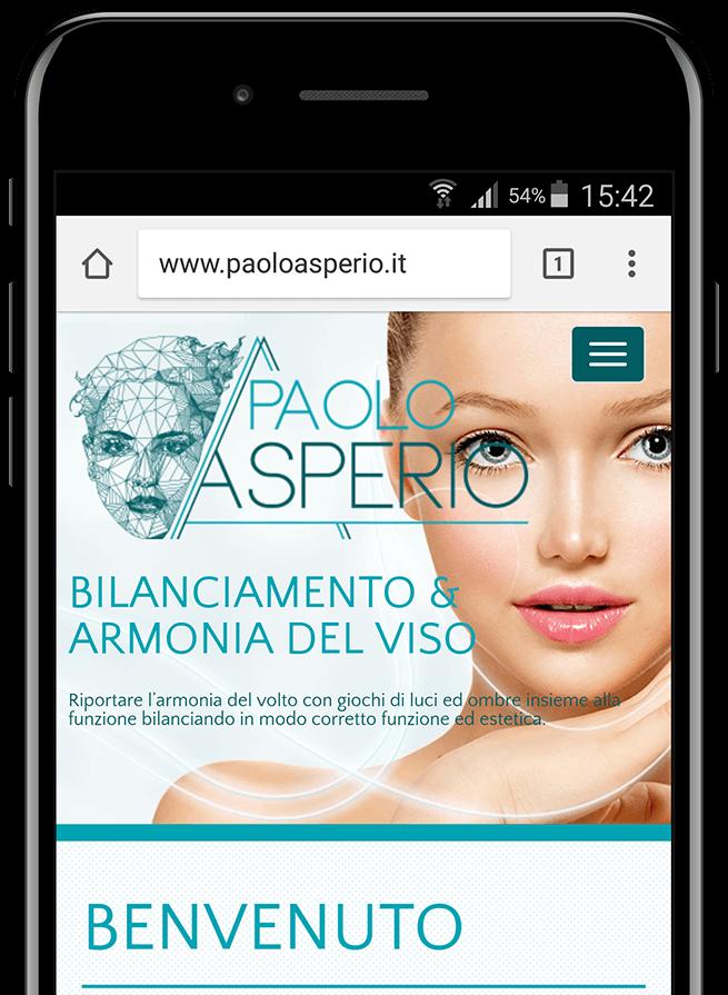 Anteprima del sito del Dr. Paolo Asperio su smartphone