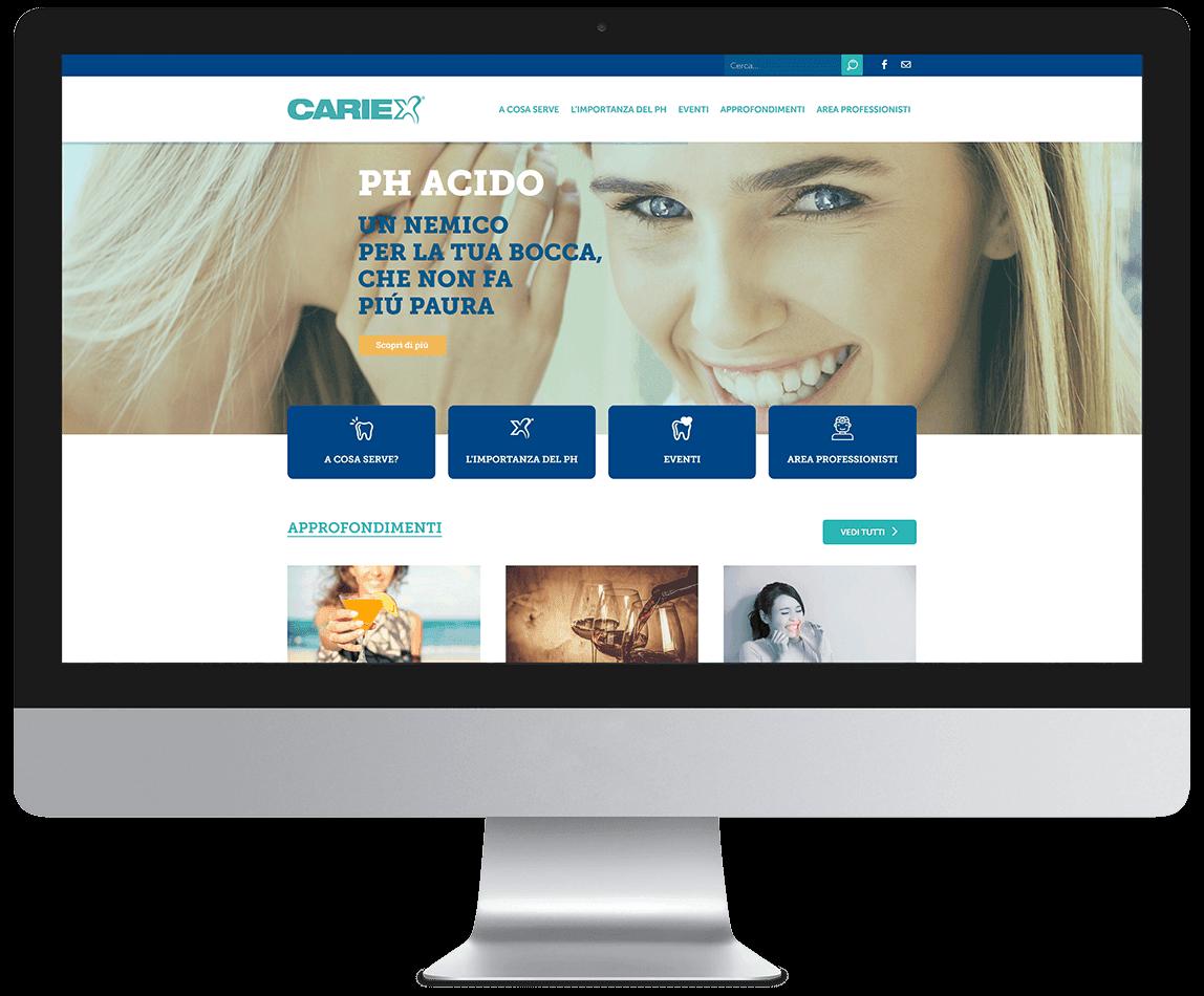 Anteprima del sito Cariex su desktop