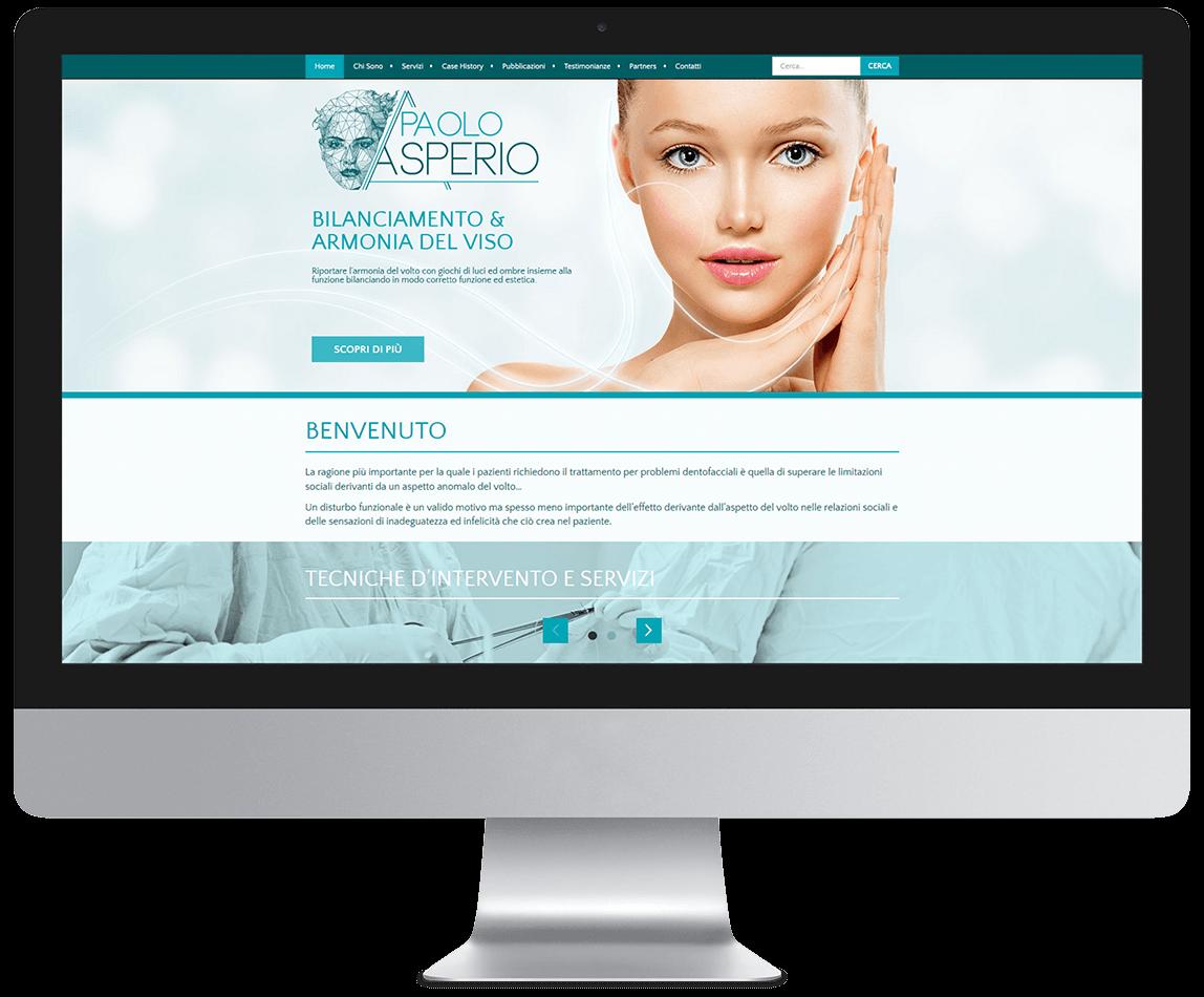 Anteprima del sito del Dr. Paolo Asperio su desktop