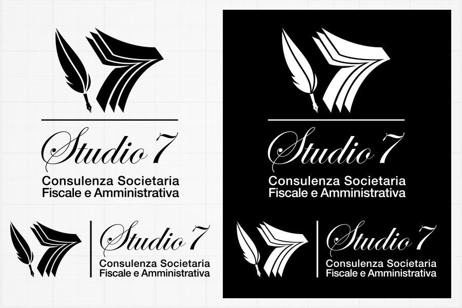 logo Studio7 proposta in negativo