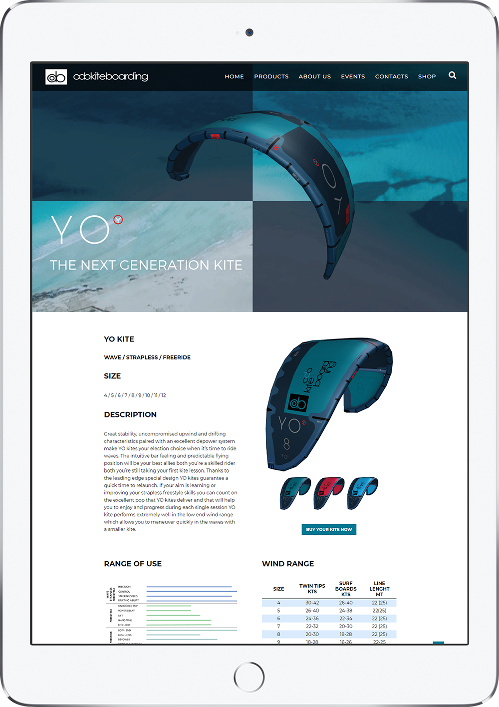 odo kiteboarding ipad version
